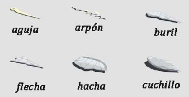 9 ARMAS DE LA PREHISTORIA   Explicación y materiales de la época