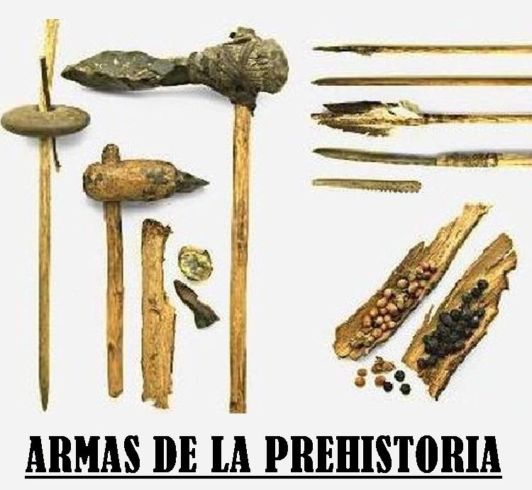 9 ARMAS DE LA PREHISTORIA | Explicación y materiales de la época