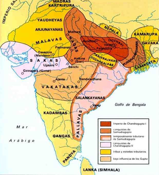 Mapa de la civilización india