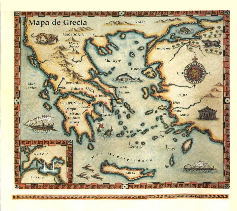 Mapa De Antigua Grecia.Antigua Grecia Historia Mapa Cultura Religion Y Dioses De Los Griegos