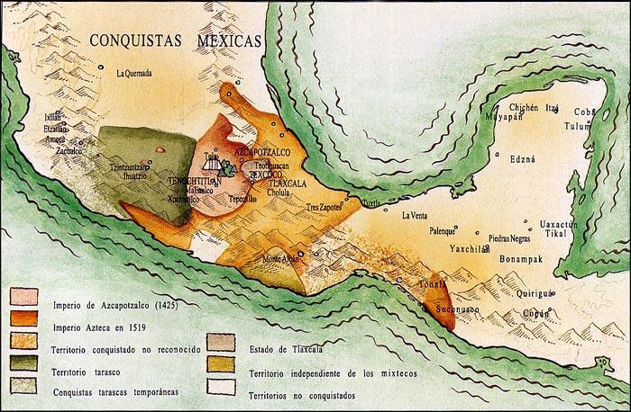 Mapa de los Aztecas