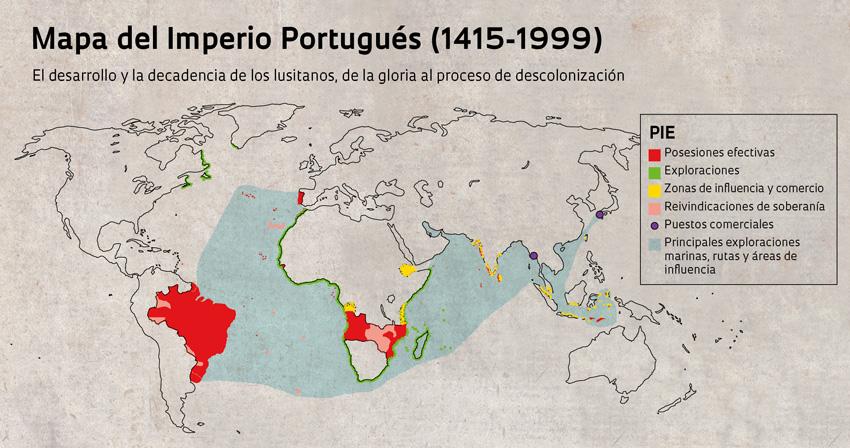 Mapa del Imperio Portugues