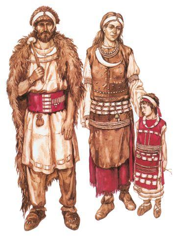 Ilustración de la ropa en el neolitico