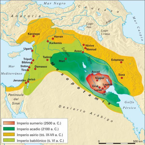 Mapa de los Sumerios
