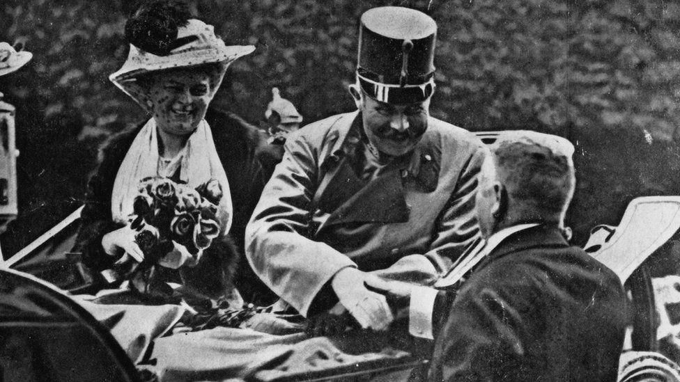 Atentado en Sarajevo 1914 contra el Archiduque Francisco Fernando.