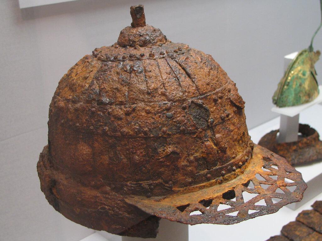 Casco creado en la Edad de Hierro