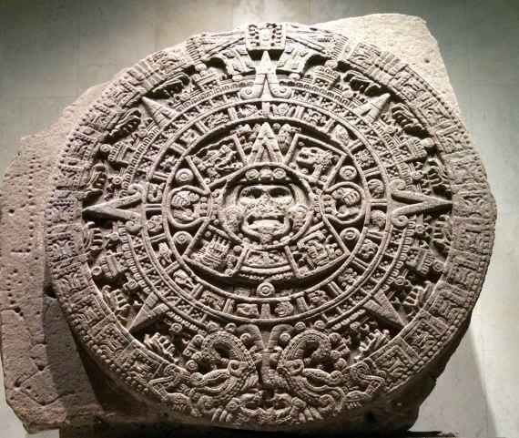 Piedra del sol, escultura azteca